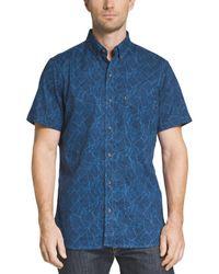 G.H.BASS - G.h. Bass & Co. Mens Printed Short Sleeve Button-down Shirt - Lyst