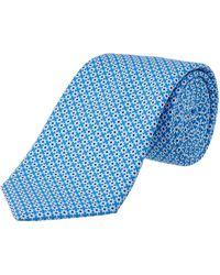 Ike Behar - Blue Silk Tie - Lyst