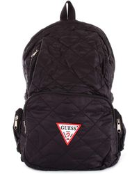 Guess - Men's Black Polyester Backpack - Lyst