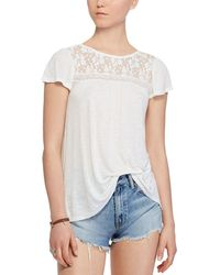 Denim & Supply Ralph Lauren - Lace Up Jersey Top - Lyst