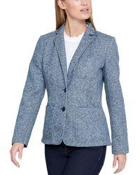 Tommy Hilfiger - Womens Heathered Office Wear Two-button Blazer - Lyst