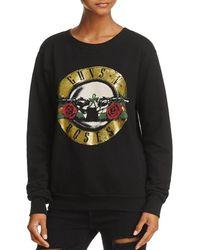 Daydreamer - Womens Guns N' Roses Metallic Vintage Sweatshirt - Lyst