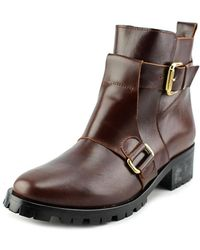 Andre Assous - Bethany Women Round Toe Leather Motorcycle Boot - Lyst