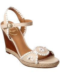 Jack Rogers - Clare Leather Wedge Sandal - Lyst