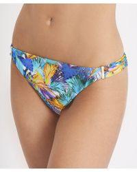 Aubade - Bain Blue Bikini Bottom Fleur Tropicale - Lyst