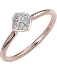 Jewelista - 14k Rose Gold Diamond Pave Stacking Ring - Lyst
