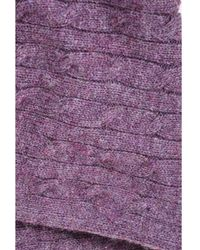 Ralph Lauren - 1 Purple Wool Alpaca Cashmere Blend Cable Knit Infinity Scarf - Lyst
