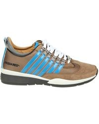DSquared² - Men's Snm01011294m907 Brown Fabric Sneakers - Lyst