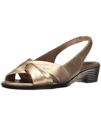 d62e61dffc159a LifeStride - Womens Mimosa 2 Fabric Open Toe Special Occasion Slingback  Sandals - Lyst