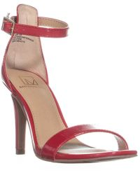 Material Girl - Mg35 Blaire6 Slim Heel Ankle Strap Sandals, Red - Lyst