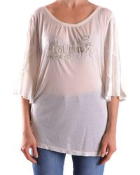 John Galliano - Women's White Modal Top - Lyst