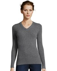 Cynthia Vincent - Long Sleeve Cashmere Vneck Sweater - Lyst