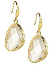 Saachi - Clear Quartz Gold Earring - Lyst