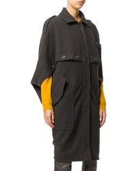 Moschino - Women's Brown Viscose Coat - Lyst