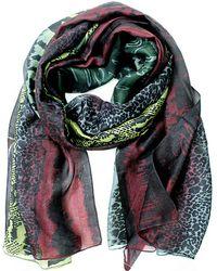 La Fiorentina - Animal Print Silk Scarf - Lyst