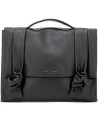 Orciani - Women's Black Leather Handbag - Lyst