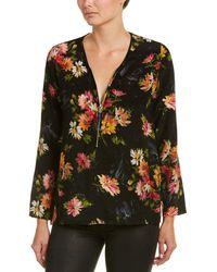 The Kooples - Floral Print Silk Top - Lyst