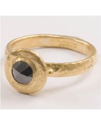 Gurhan - Droplet Round Black Diamond Ring - Lyst