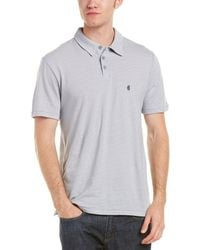 John Varvatos - Striped Polo - Lyst