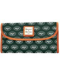 Dooney & Bourke - Nfl New York Jets Continental Clutch Wallet - Lyst