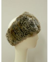 Surell | Sheared Rabbit Knitted Headband/collar | Lyst