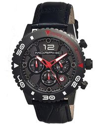 Morphic - M33 Chronograph Leather-band Watch - Lyst