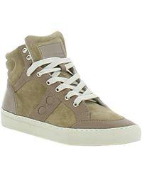 Alexander Smith - Men's Beige Suede Hi Top Sneakers - Lyst