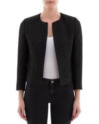 Tagliatore - Women's Black Viscose Jacket - Lyst