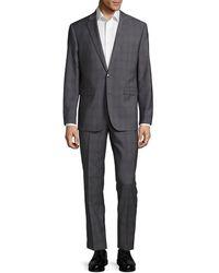 Vince Camuto - Slim-fit Plaid Wool Suit - Lyst