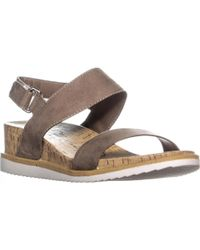 American Rag - Ar35 Dalary Ankle Strap Wedge Sandals, Taupe - Lyst
