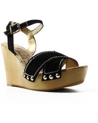 Sam Edelman - Womens Cairo Black Ankle Strap Heels - Lyst