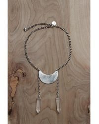 Love Leather - Crystal Moon Necklace - Lyst
