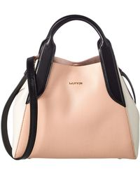 Lanvin - Mini Le Cabas Leather Tote, Pink - Lyst