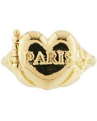 Les Nereides - From Paris With Love Paris Heart-shapped Secret Ring - Lyst