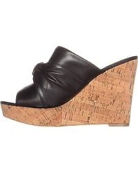 Guess - Hotlove Leather Open Toe Casual Platform Sandals - Lyst