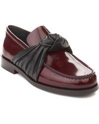 Céline   Céline Women's Leather Loafer Shoes Maroon   Lyst