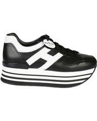 Hogan - Women's Hxw2830t548hqk0002 Black Leather Sneakers - Lyst
