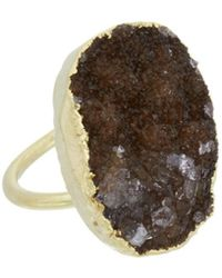 Nakamol - Plated Druzy Ring - Lyst