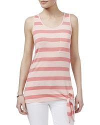 G.H.BASS - G.h. Bass & Co. Womens Striped Side Tie Tank Top - Lyst