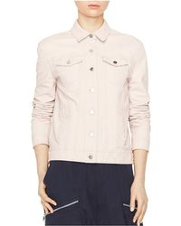 ATM - Womens Leather Button Front Jean Jacket - Lyst