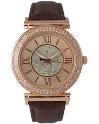 Olivia Pratt - Elegant Rose Gold Centre Sparkle Leather Watch - Lyst