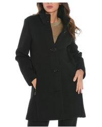 Rrd - Women's Black Viscose Coat - Lyst