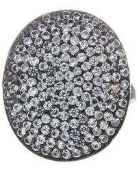 Adornia - White Topaz And Sterling Silver Farrah Ii Ring - Lyst