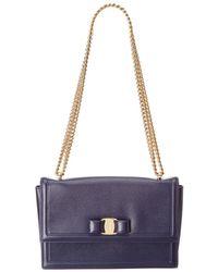 Ferragamo - Ginny Vara Leather Flap Bag - Lyst