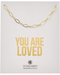 Dogeared - You Are Loved 14k Over Silver Necklace - Lyst