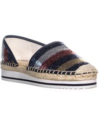 6bac1a26bb3ee7 Tommy Hilfiger Carliss Sequin Espadrilles in Blue - Lyst