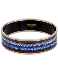 Hermès | Multicolor Printed Enamel Wide Bangle | Lyst
