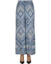 Tolani - Women's Light Blue Silk Pants - Lyst