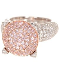 Suzy Levian - Sterling Silver Pave Pink Cubic Zirconia Ring - Lyst