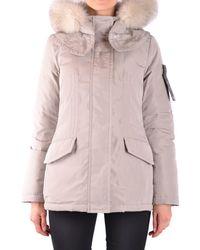 Peuterey - Women's Beige Polyester Outerwear Jacket - Lyst